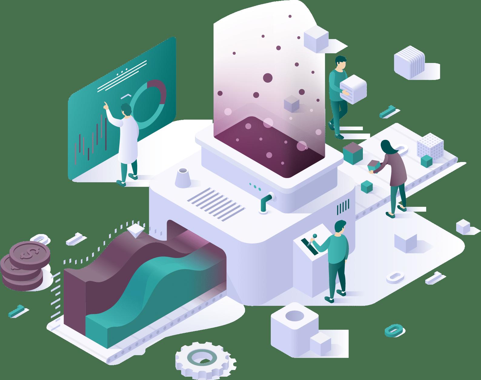 Isometric representation of application development